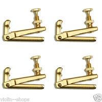4 Pcs Violin Golden Fine Tuner 3/4 or 4/4
