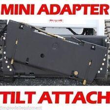 Universal Mini Skid Steer Tilt Attach w/ Hoses & Couplers, Fits all Mini Loaders