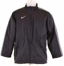 NIKE Boys Windbreaker Jacket 10-11 Years Medium Black Polyester  MW08