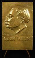 Medal of Politics Leon Blum and Paul Faure 1930 Sfio Georges Regnauld Medal