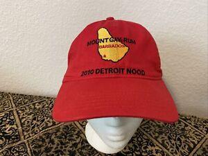 New Mount Gay Rum 2010 Detroit Nood Race Sailing Race Red Hat Cap Adj.