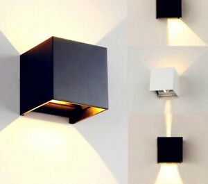 Modern Brief Cube Adjustable Surface Mounted LED Wall Lamps Outdoor Waterproof