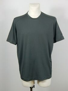 Rapha merino t-shirt wool blend dark grey short sleeved t-shirt top size XL