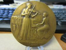 French Musician Award Medal by Charles Pillet 68mm Bronze RARE