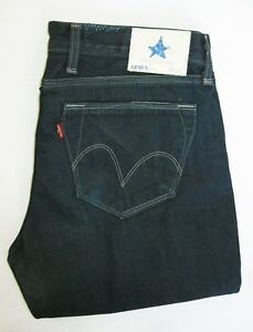 "LEVI'S ""BLUE STAR"" 1041 4033 Zipper Leg Womens Jeans Size W34 L30 Waist 17 1/2"""