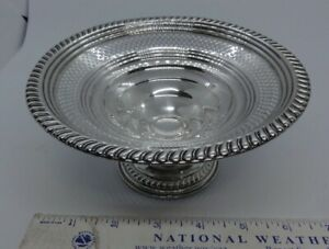 """EMPIRE 204 Sterling Silver weighted Compote Pierced 6.3/8"""" CANDY Dish 153g"""