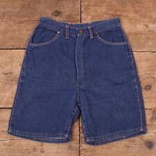 """Womens Vintage Wrangler Blue Bell 50s High Waisted Denim Shorts 26"""" XR 8998"""