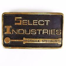 Anacortes Brass Works Belt Buckle Select Industries Hydraulic Specialists 1980