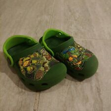 CROCS Teenage Mutant Ninja Turtles Size 4 5 TMNT Green
