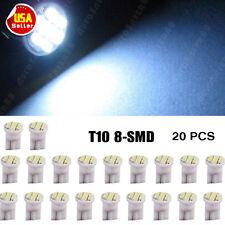 20 X Car Cool White T10 LED 8smd Side Wedge Light Bulb W5W 194 168 2825 501 192