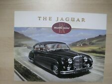 Jaguar Mk IX Mark Nine folder brochure Prospekt English text 4 pages 1959