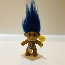 More details for vintage russ troll i love my dad with sign & tie blue hair rare