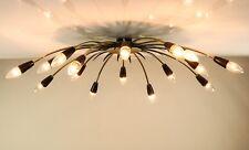 Sputnik Decken Lampe XXL Messing & Schwarz Spider Leuchte 16flammig 50er Vintage