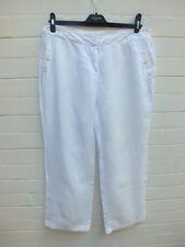 SUSSAN 100% LINEN PANTS SUMMER LOUNGE  -  WHITE - SIZE 14 LARGE