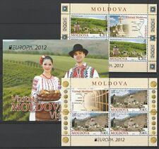 "Moldova 2012 CEPT Europa ""Visit Moldova"" MNH Souvenir Sheets stamps Booklet"