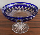 Vintage Waterford Cobalt Blue Cut To Clear Clarendon Compote 6