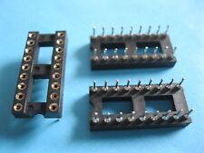 52 pcs IC Socket Adapter Round 18 Pin headers & (IC) Sockets Pitch 2.54mm 7.62mm