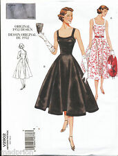 VOGUE SEWING PATTERN 2902 MISSES SZ 6-10 RETRO '50 ROCKABILLY STYLE FLARED DRESS