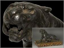 BCTO10 Japanese Tiger Bronze ornament w/wooden pedestal okimono