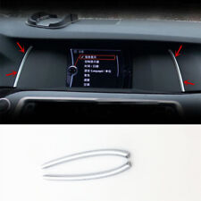 Chrome ABS Navigation Screen Trim Strips 2pcs For BMW 5 series F10 F18 2011-14