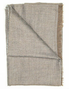 Kiton Scarf IN Grey Brown from Cashmere/Silk RegEUR490
