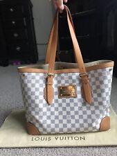 Authentic LOUIS VUITTON Damier Azur HAMPSTEAD MM Shoulder Handbag