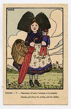 HANSI 7. Alsacienne (d'après l'estampe de la poupée) . Alsatian girl
