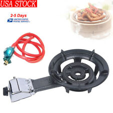 Cast Iron Single Burner Propane Gas Stove Camping Outdoor Cooker Heat Kitchen US