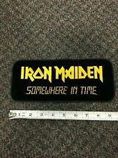 PATCH -VINTAGE Iron Maiden- somewhere in time embroidered, black/yellow 1980's