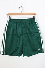 vintage Adidas short M shiny new green 90's soccer nylon equipment