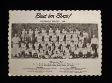 >Original 1960 Pittsburgh Pirates *Beat' em Bucs* TEAM PHOTO BASEBALL PLACEMAT
