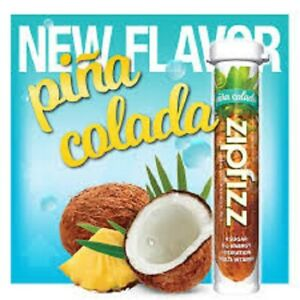 ZipFizz All Natural  Energy Drink Mix - PINA COLADA (30 Tubes) * FREE SHIP *