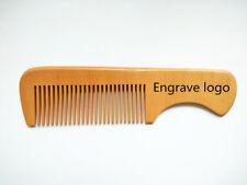 Customize Logo-Peach Wood Comb Hair/Beard Care Makeup Brush Handle Wholesale