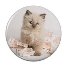 Miradoll Ragdoll Cat Kitten Flowers Compact Pocket Purse Hand Makeup Mirror