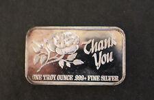 1986 Thank You Continental Coin Corp CCC-29 Silver Art Bar P0787