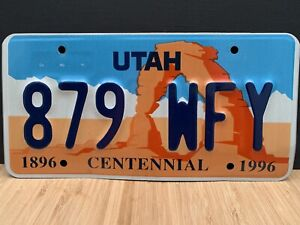 UTAH Centenial 1996 U.S License/Registration Plate.