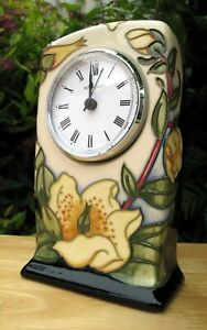 Moorcroft Yellow Shine Clock CL1 First Quality RRP £280 Signed Rachel Bishop