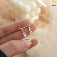 Sparkling Drop Earrings Women Temperament Delicate Cubic Zirconia Water Drop