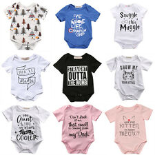 Cotton Newborn Infant Baby Boy Girl Romper Jumpsuit Bodysuit Clothes Outfit Set