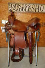 """16"""" G.W.CRATE NATURAL HORSEMAN TRAIL SADDLE LIFETIME WARRANTY USA FREE SHIPPING"""