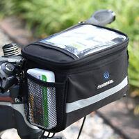 ROSWHEEL Bike Bicycle Cycling Front Basket Pannier Frame Handlebar Bag Pouch