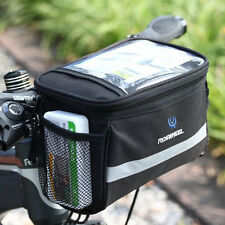 ROSWHEEL Bike Bicycle Cycling Front Basket Pannier Frame Handlebar Bag Pouch