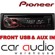 Pioneer DEH-USB CD MP3 AUX IN 1 pre out stereo auto radio lettore Display Rosso
