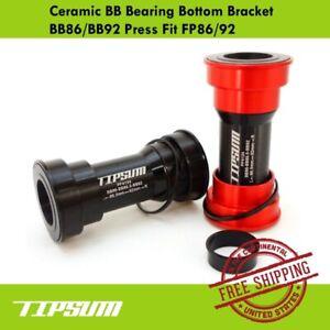 Tipsum Ceramic BB Bearing Bottom Bracket BB86/BB92 Press Fit FP86/92 Shimano/FSA
