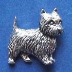 Peltre Cairn Terrier Perro Broche Firmado