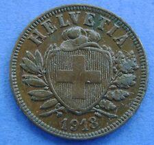 Zwitserland - Switzerland  2 Rappen 1918 KM# 4.2