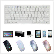 Bluetooth Keyboard / Wireless Mouse For Android Windows iOS Tablet PC Computer
