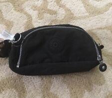 NWT Kipling Caleen Cosmetic/Pencil Bag Plus Keychain Black