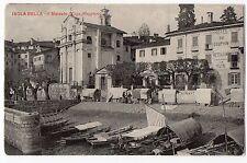 CARTOLINA 1919 ISOLA BELLA IL MERCATO (LAGO MAGGIORE) RIF. 3408