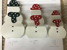 Wooden MDF Snowman Family Freestanding 18mm thick JOB LOT FOR CRAFT BUSINESS